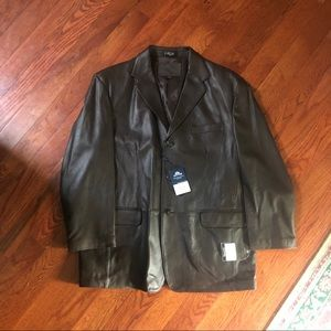 Dark Brown 100% Leather Jacket